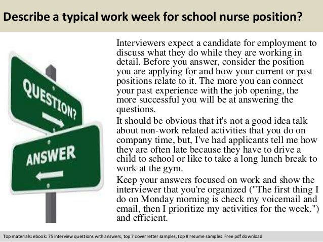 School nurse interview questions