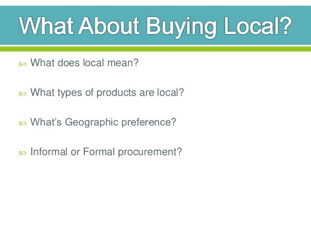 what is a geographic preference