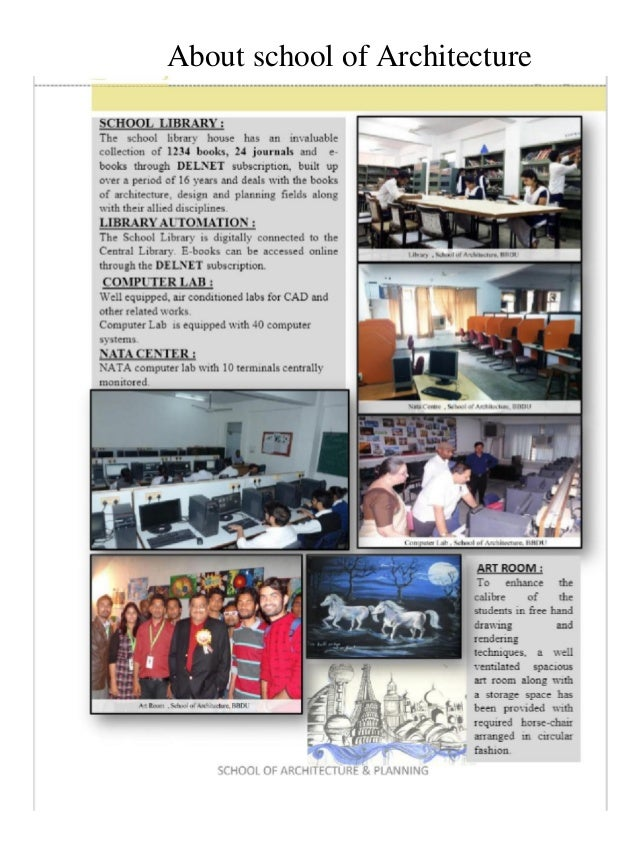 About school of Architecture
