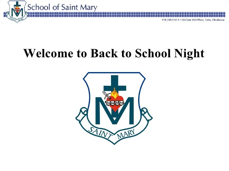 Welcome to Back to School Night