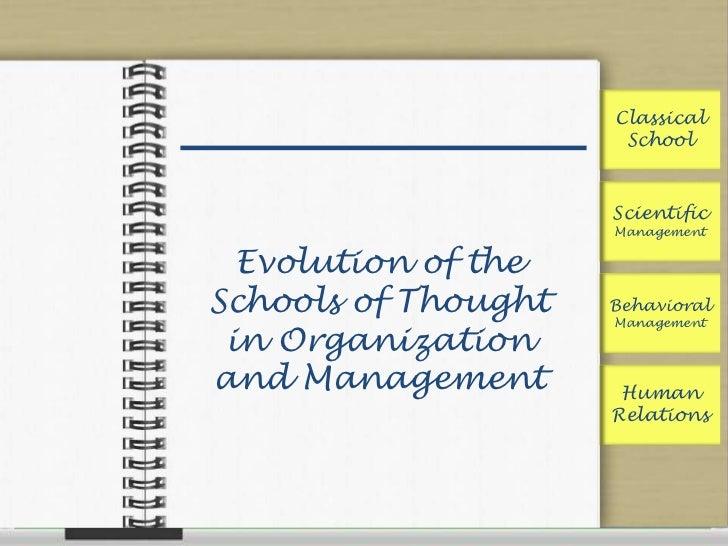Classical                      School                     Scientific                     Management  Evolution of theSchoo...