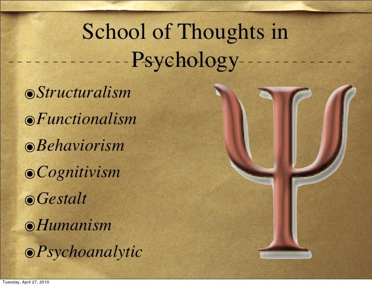 school of thoughts in psychology
