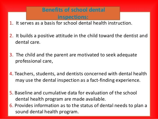 School oral health program