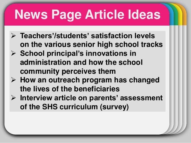 survey ideas for highschool students