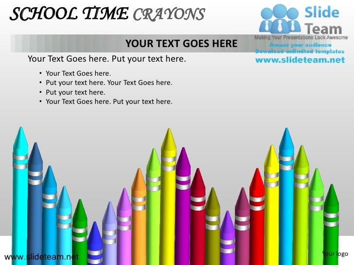 School pencils colorful children time crayons powerpoint ppt template your logoslideteam 10 school time crayons toneelgroepblik Choice Image