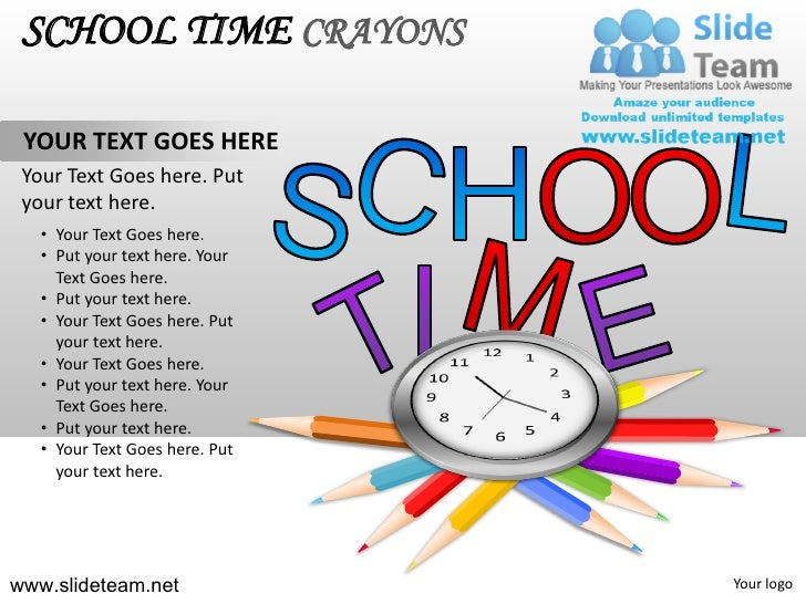 School pencils colorful children time crayons powerpoint ppt template 4 school time crayons toneelgroepblik Choice Image