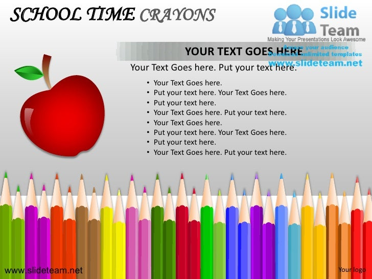 School pencils colorful children time crayons powerpoint ppt template 5 school time crayons toneelgroepblik Images