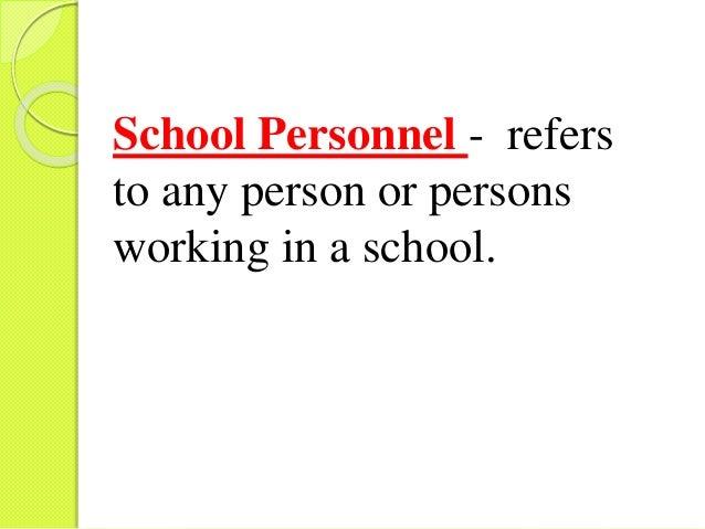 School Personnel Management
