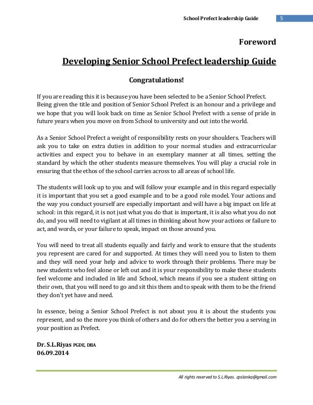 school prefect application letter examples