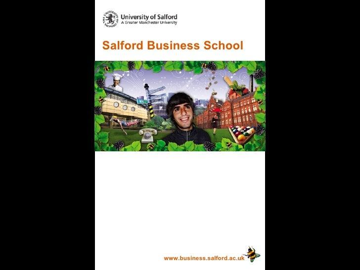 Salford Business School www.business.salford.ac.uk