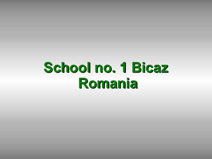 School no. 1 Bicaz  Romania