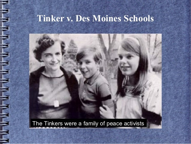 tinker vs. des moine essay Case background and primary source documents concerning the supreme court  case of tinker v des moines dealing with students rights and the first.