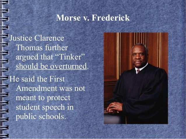 morse vs fredrick Part 1: case brief case title/citation: morse et al v frederick facts: a student (frederick) was suspended by a high school principal (morse) for displaying a.
