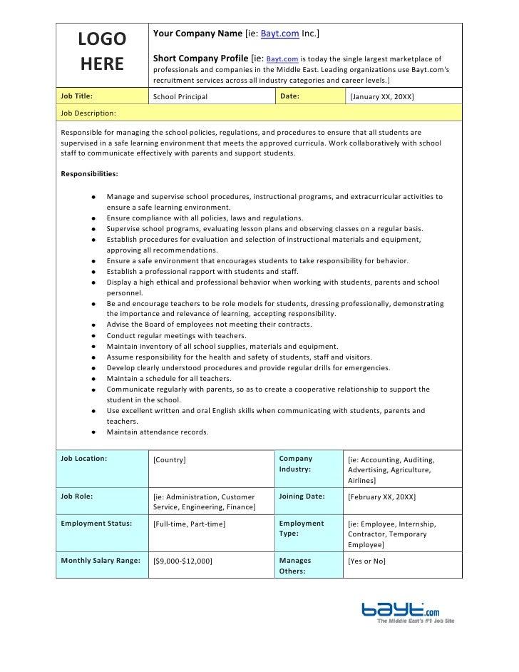 job tasks template