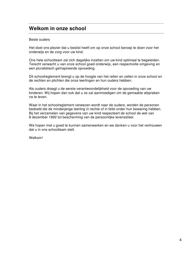 Schoolreglement 2011 2012
