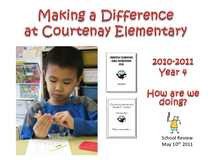 Making a Difference<br />at Courtenay Elementary<br />2010-2011<br />Year 4<br />How are we doing?<br />School Review<br /...