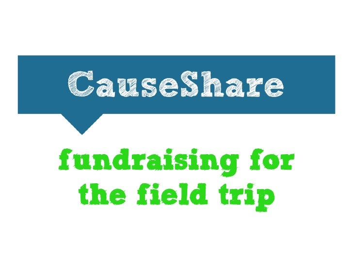fundraising for  the field trip