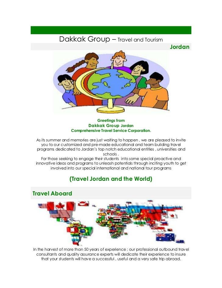 Dakkak Group – Travel and Tourism                                                                          Jordan         ...