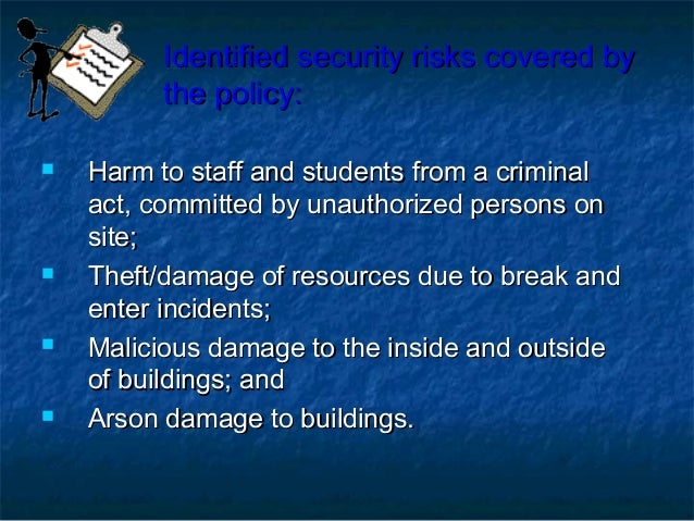 school safety and security management
