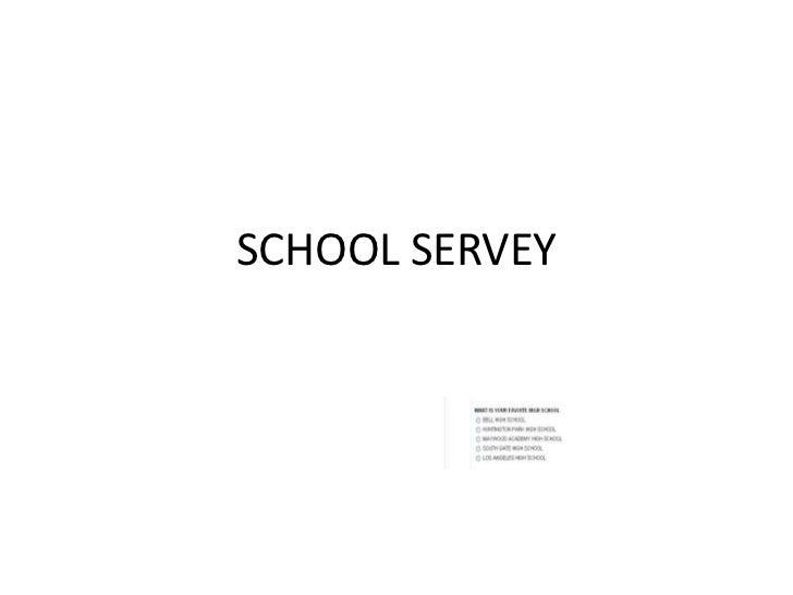 school servey