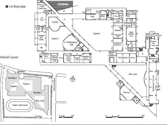School site and Floor Plan