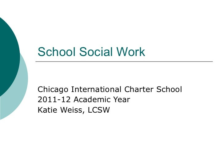 School Social Work Chicago International Charter School 2011-12 Academic Year Katie Weiss, LCSW