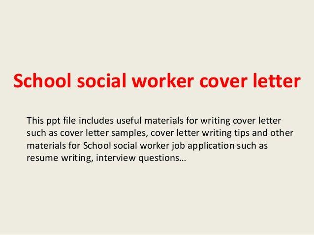 social worker cover letter