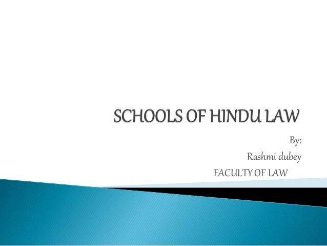 By: Rashmi dubey FACULTY OF LAW
