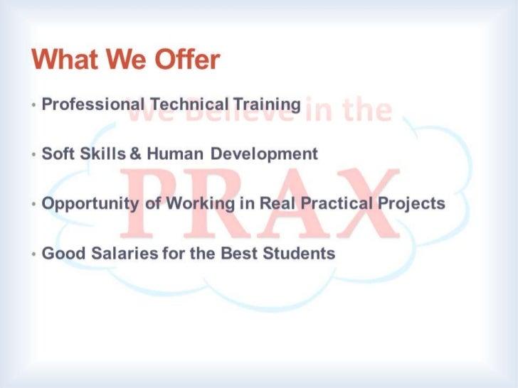 PRAX Schools Program Slide 3