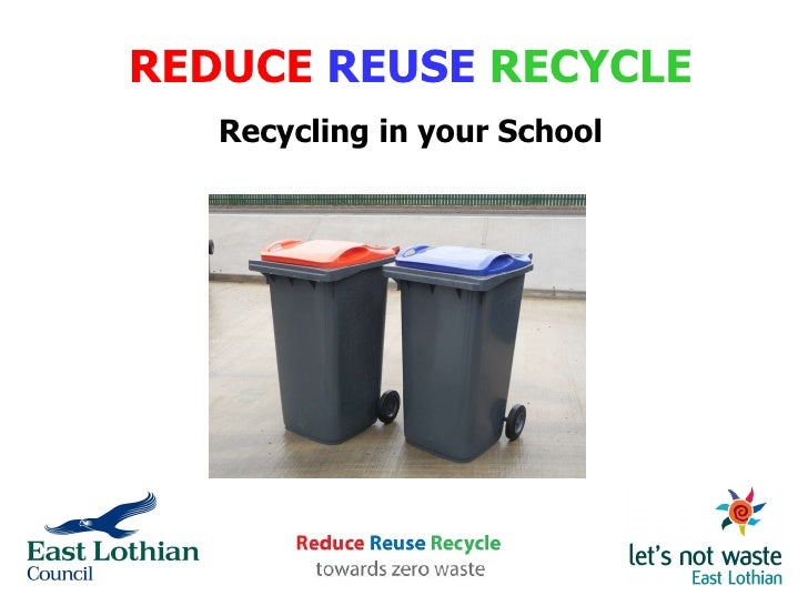 REDUCE   REUSE   RECYCLE Recycling in your School