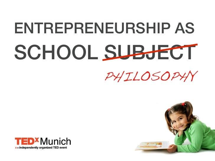Entrepreneurship as School Subject Slide 2