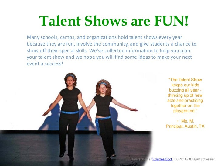 School Talent Shows for Fun and Fundraising Slide 3