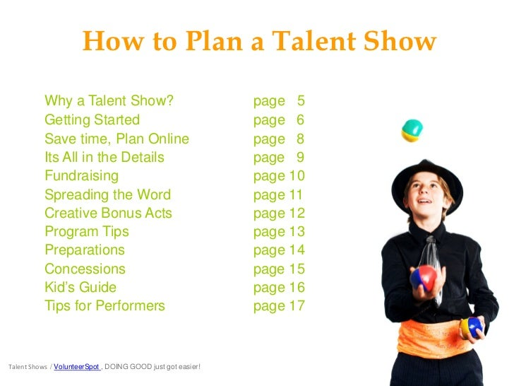 School Talent Shows for Fun and Fundraising – Sample Talent Show Score Sheet
