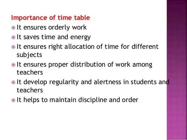 importance of being on time to school