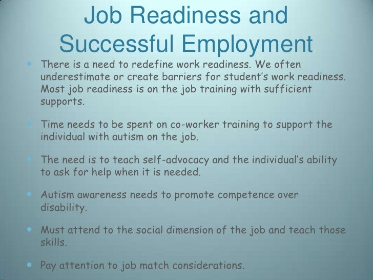 Special Issues High School Transition And Job Readiness