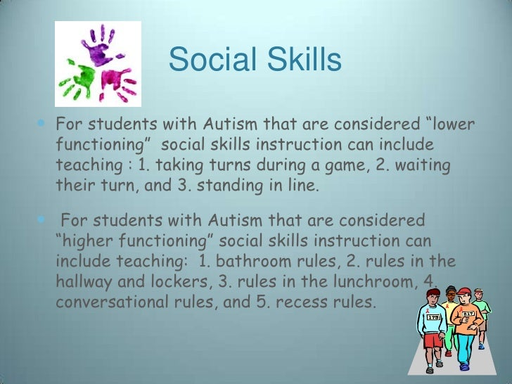 Social Skills in the School Environment