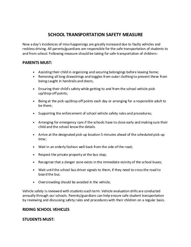 school transportation safety measure school transportation safety measure school transportation safety measurenow a day s incidences of miss happenings are greatly increased due to