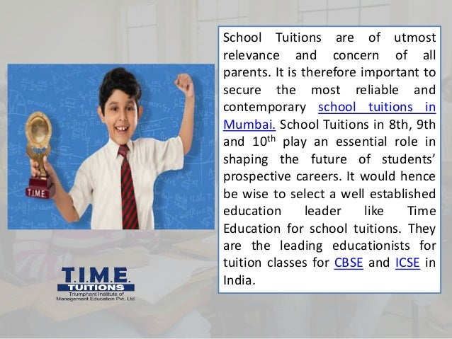 School Tuitions are of utmost relevance and concern of all parents. It is therefore important to secure the most reliable ...