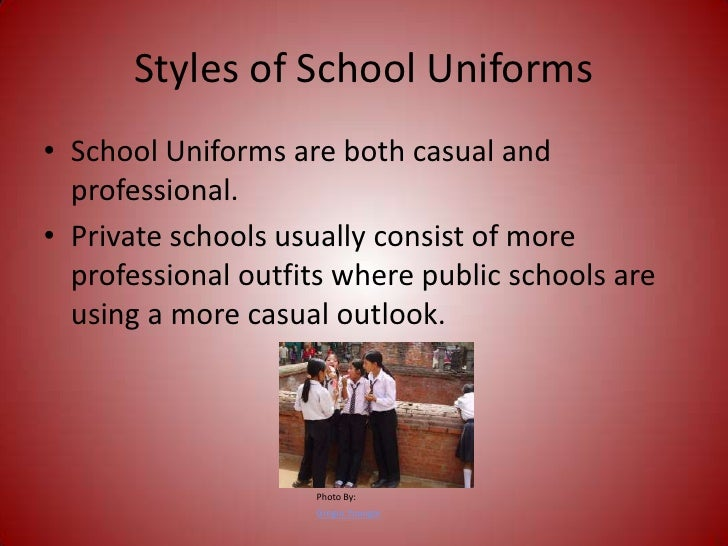 school uniforms <br > 3 styles of school uniforms<br