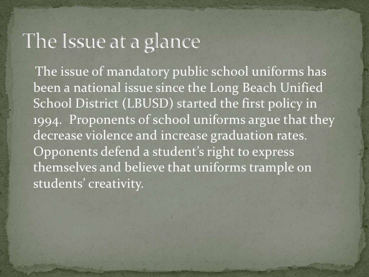 an essay on the issue of school uniforms in classrooms Schools need to create an  we had to do an argumentive essay against school uniforms  an argument against school uniforms i am a 10th grade student .