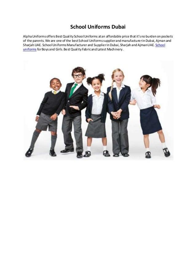 School uniforms dubai
