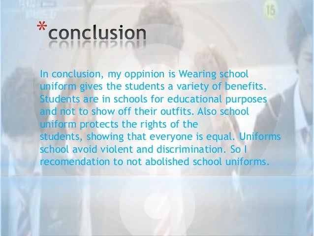benefits of school uniforms essay Benefits of school uniforms january 27, 2011, harri daniel, comments off on benefits of school uniforms benefits of school uniforms wearing school uniforms to.