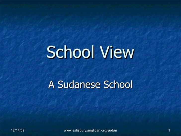 School View A Sudanese School