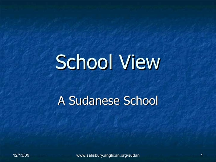 School View A Sudanese School