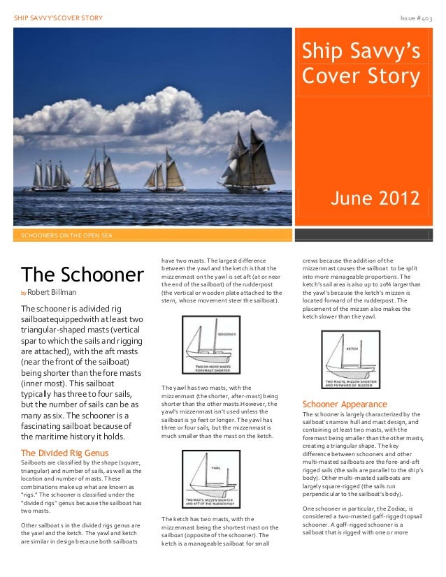 Schooner newsletter