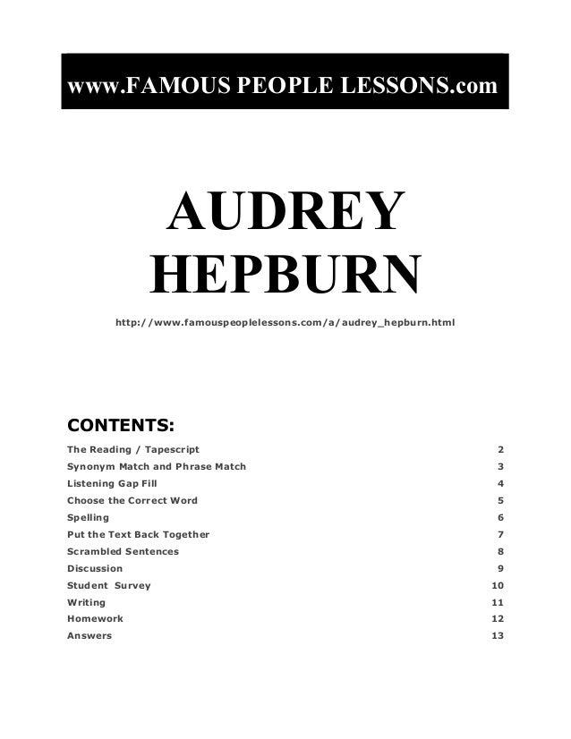 www.FAMOUS PEOPLE LESSONS.com                AUDREY                HEPBURN           http://www.famouspeoplelessons.com/a/...