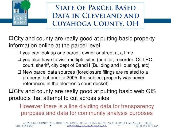 Michael Schramm Cuyahoga County Land Bank Datasystems