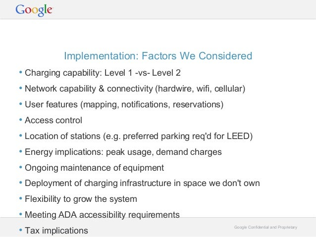 Workplace Charging @ Google, by Rolf Schreiber, Technical