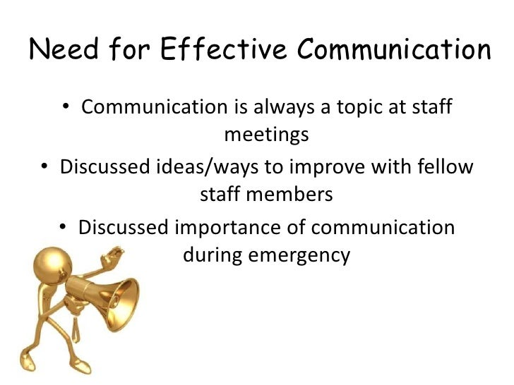 Evaluate the effectiveness of existing communication systems and practices shc51