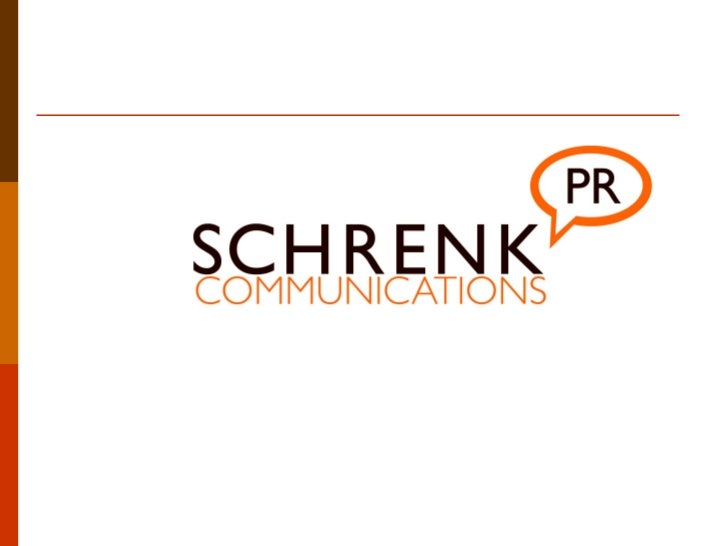 """Schrenk Communications PR  is a Boutique PR Agencythat offers """"Big PR"""" services    with a personal touch."""